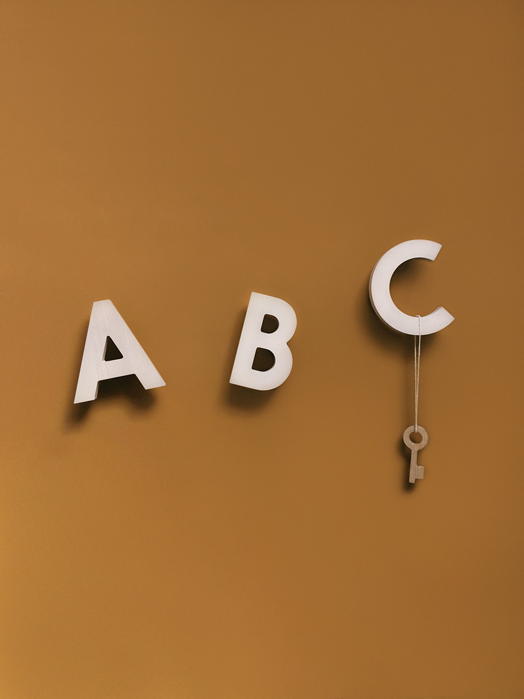 Alphabet Soup Wall hooks – ABC (Natural)